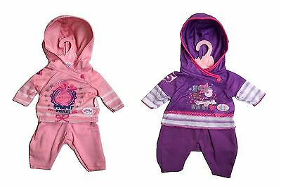 New Zapf Creation Baby Born Casual Doll Clothes Hoody & Pants Toy