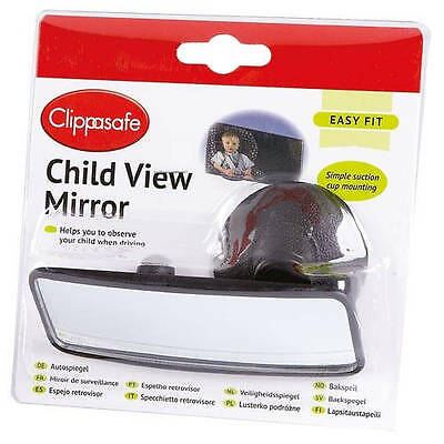 Clippasafe Baby Mirror Car Back Seat Child View Rear Suction Cup Safety