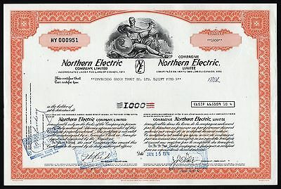Canada: Early Nortel Networks Stock Certificate (Northern Electric Company)