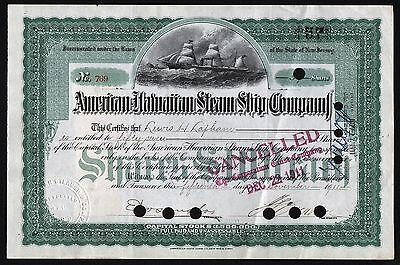 1911 New Jersey: American-Hawaiian Steam Ship Company