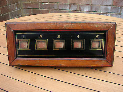 Servants Bell Box Glass 5 Window Room Indicator Oak Frame Global Shipping