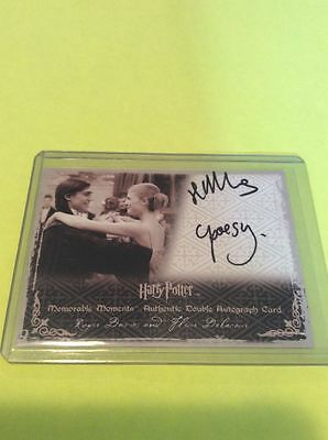 Harry Potter Gof Clemence Poesy Autograph Dual Fleur Auto Yule Ball Posey