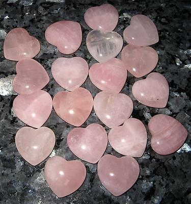 Awesome 25Mm **rose Quartz** Puff Heart - Reiki Healing - A Grade