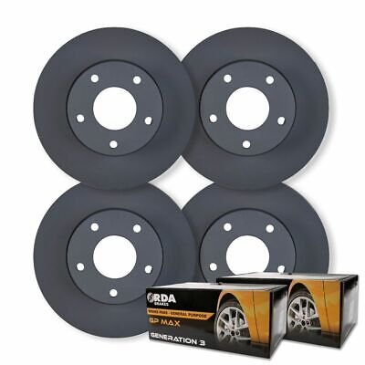 FULL SET RDA DISC BRAKE ROTORS+ PADS for Ford Falcon BF 6 Cyl XR6 10/2005-4/2008
