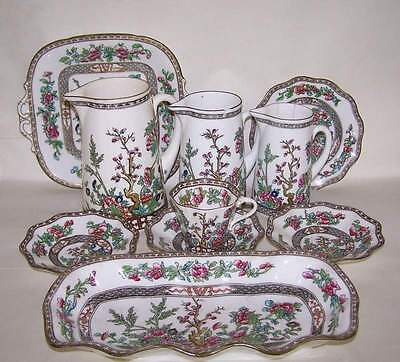 Vintage Collection Of Coalport Indian Tree China~ Graduated Jugs, Dishes Etc