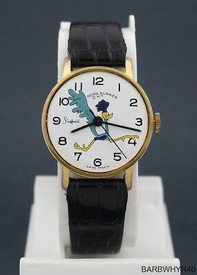 1960's wind-up Road Runner Character Watch Looney Tunes by Sheffield