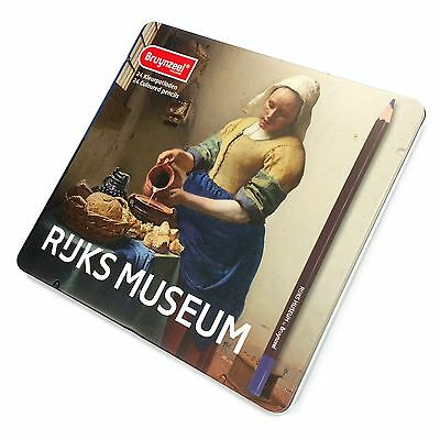 Bruynzeel - Rijks Museum Edition Tin of 24 High Quality Colouring Pencils