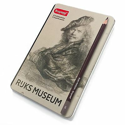Bruynzeel - Rijks Museum Edition of 12 High Quality Graphite Pencils - [2H - 9B]