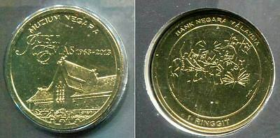 """Malaysia 1 Ringgit """" Malaysia National Museum"""" 2013 Coin Unc"""