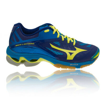 Mizuno Wave Lightning Z2 Mens Yellow Blue Squash Indoor Court Shoes Pumps