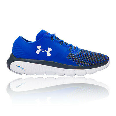 Under Armour Speedform Fortis 2 Mens Blue Cushioned Running Sport Shoes Trainers