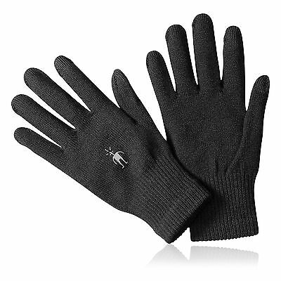 SmartWool Liner Mens Womens Black Sports Running Training Warm Gloves New