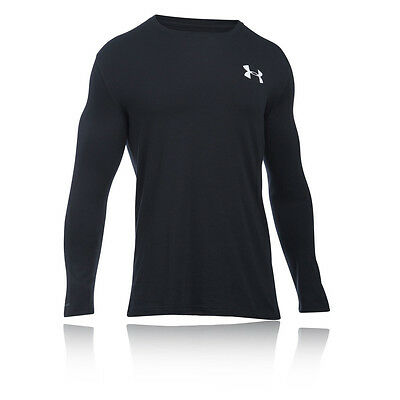 Under Armour Vertical WM Mens Black Long Sleeve Crew Neck Running Sports Top