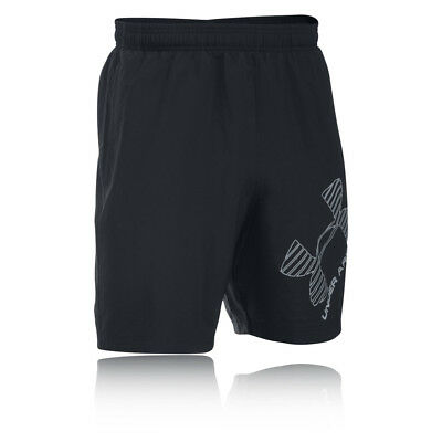 Under Armour HeatGear INTL Graphic Woven Mens Black Shorts Pants Bottoms