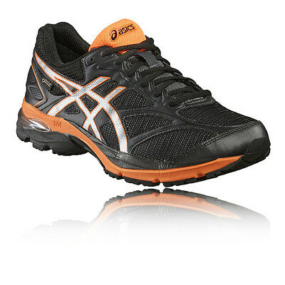 Asics Gel-Pulse 8 Mens Black Cushioned Gore Tex Running Sports Shoes Trainers