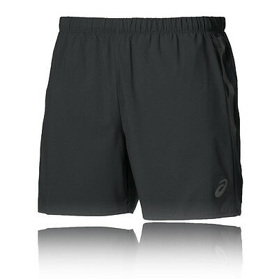 Asics 5 Inch Mens Black Outdoors Running Training Shorts Pants Bottoms
