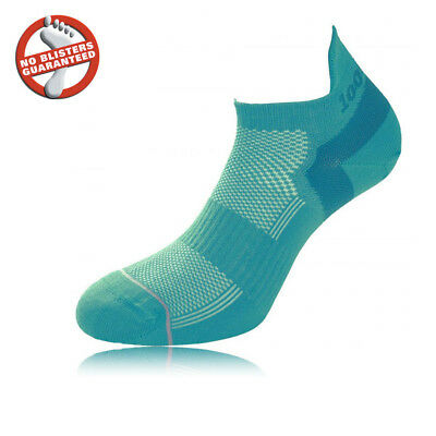 1000 Mile Micro Womens Blue Running Training Athletic Anklet Sports Socks