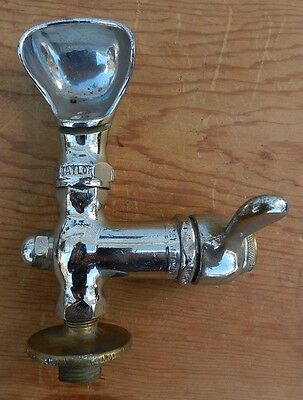Vintage Chrome TAYLOR Water Fountain Bubbler B7