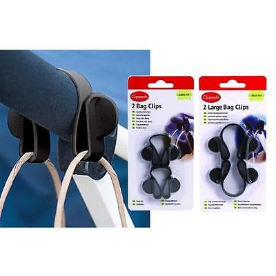 Clippasafe Buggy Bag Clip Stroller Hook Pram Shopping Pushchair Black 2 Pack
