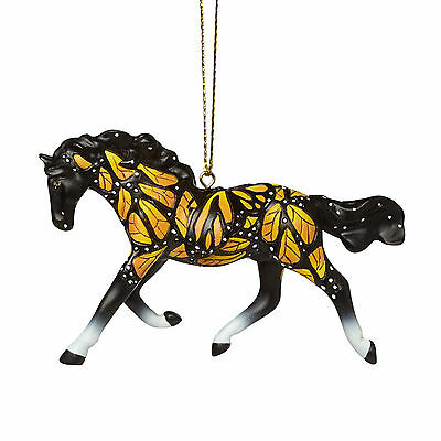Enesco Christmas Trail of Painted Ponies Butterfiles Run Free Ornament 4046328