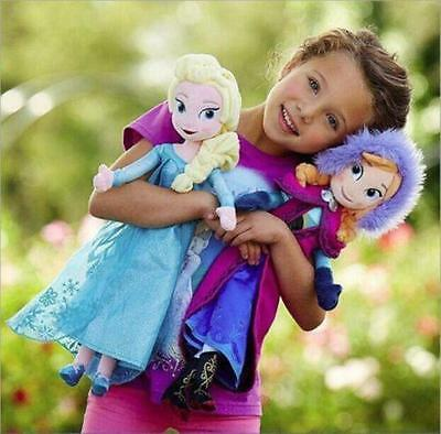 Christmas Xmas Birthday Gift 2 Pcs Frozen Elsa & Anna Disney Princess Plush Doll