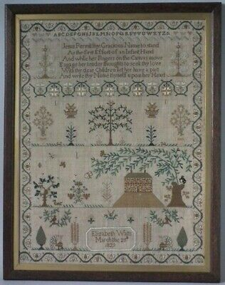Antique Sampler, 1829, by Elizabeth Watts