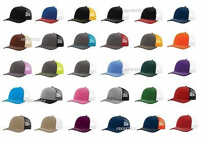 New 2017 Richardson 112 Trucker Hat Meshback Snapback Ball Cap 54 New Color SALE