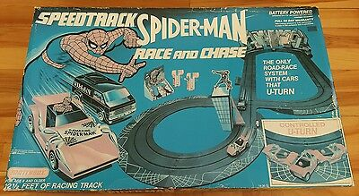 Speedtrack Spiderman  race and chase set 1979 matchbox