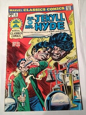 marvel classics comics # 1, dr. jekyll and mr. hyde