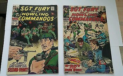 Sgt. Fury and his howling commandos # 58,59