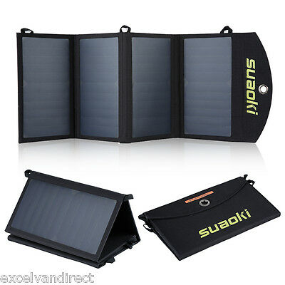 25W Portable Foldable Solar Panel Battery Charger Dual-Port for iphone Samsung