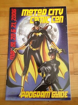 motor city comic con program 2006 bat girl / batman cover