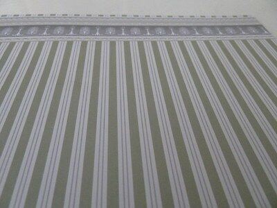 Dolls House Emporium Miniature 1:12 Scale Sage Stripe Wallpaper
