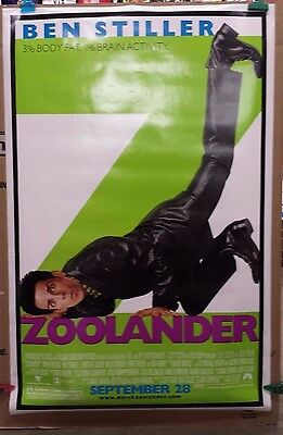Zoolander Original Movie Theater Poster- 2 Sided 27 X 40 Ben Stiller