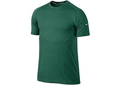 Men's Nike Dri-Fit Knit Novelty Crew Running Shirt Mystic Green 619953-346 (M)