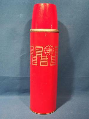 Vintage Icy Hot By Thermos 1 Quart Vacuum Thermos Bottle #2410 w/ 24-F Insert