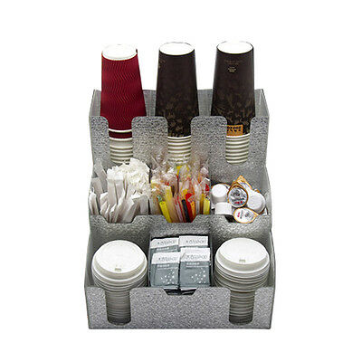 Coffee Condiment Cup Lid Dispenser Organizer Holder Caddy Beverage Sub-cup Rack