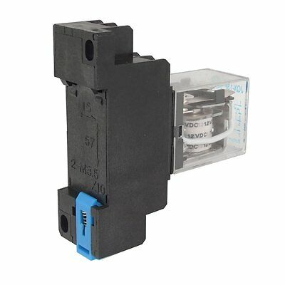 12VDC Coil Power Relay DPDT LY2NJ HH62P-L JQX-13F 10A With PTF08A Socket Base CT
