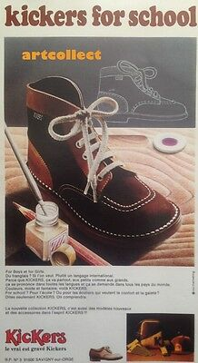 Original Vintage French Fashion Ad (1973): Kickers. Shoes.