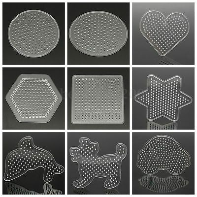 KIDS DIY CRAFT Clear Perler Beads Pegboard Fuse Bead