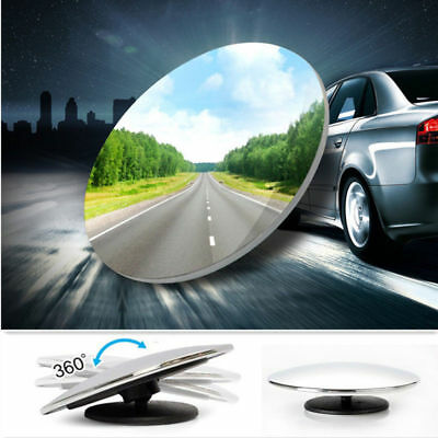 """2x SUMMIT BLIND SPOT MIRROR ROUND ADHESIVE CAR 2"""" INCH EASY FIT WIDE VIEW ANGLE"""