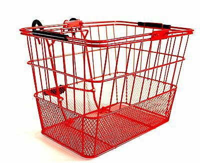Bicycle Basket Mesh Mounting Bracket Carrier NEW Bike Front Lift Off Yellow/Red