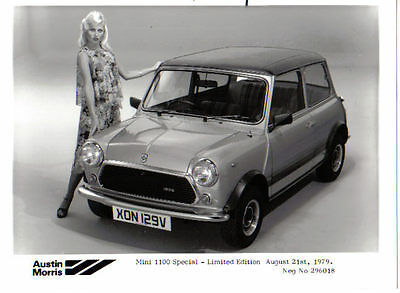 Mini 1100 Special Limited Edition 1979 original b/w Press Photograph No. 296018