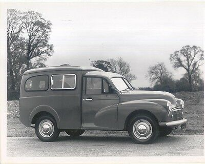 Morris Minor Van retrospectively issued black & white Press Photo No. 55130