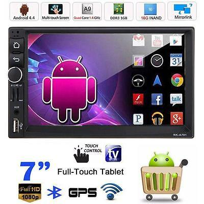 "7"" Android 4.4 Double 2Din HD Car Stereo GPS Navi MP5 MP3  Player USB Interface"