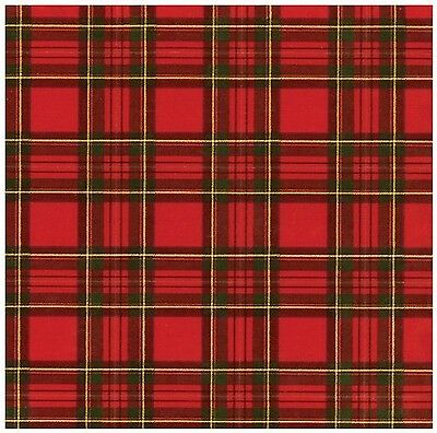 Caspari Royal Plaid Foil Continuous Gift Wrapping Paper Roll 8-Feet [9575RC] XWP
