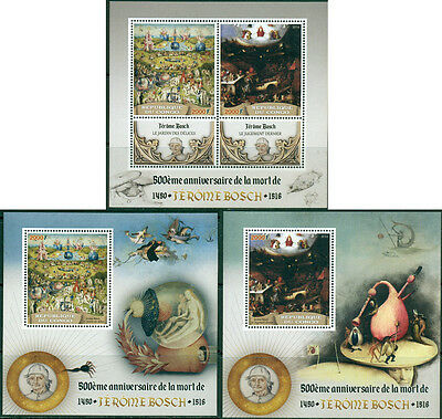 Congo Art Middle Ages Hieronymus Bosch Netherlands MNH stamp set