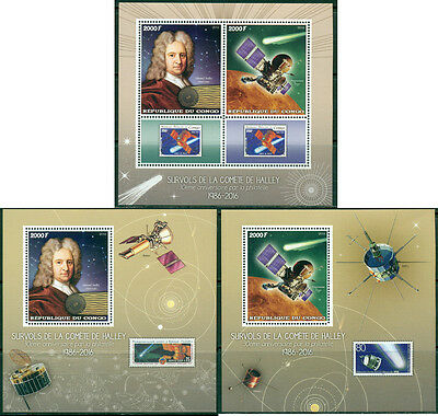 Congo Space Edmond Halley Comet Astronomers Philately MNH stamps set