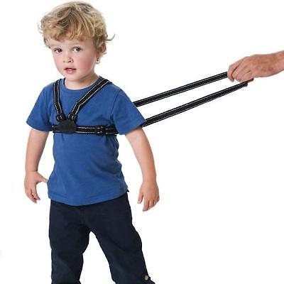 Red Kite Toddler Harness Walking Reins Black Reflective Baby Child Safety 0m+