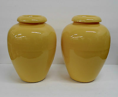Bauer Oil Jars Pair California Pottery